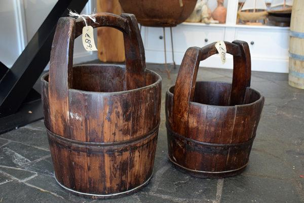 SW-133 oude houten emmer
